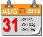 Samstag, 31. August 2013