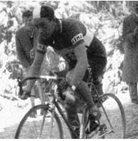 Charly Gaul in 1956 on the Monte Bondone